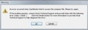 Error Massage: QuickBooks Error 6000