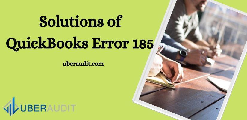 QuickBooks Error 185