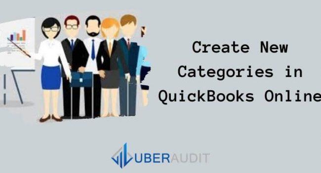 Create New Categories in QuickBooks Online