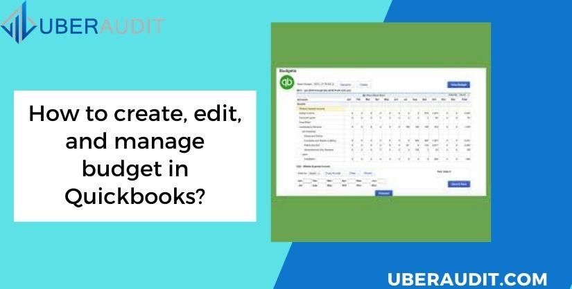 QuickBooks Budget